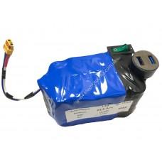 Аккумулятор 12В 23,5А/ч 3S5P с выключателем и 2-мя USB портами на базе аккумуляторов Tesla Model 3