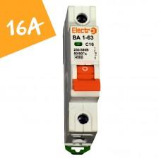 Автоматический выключатель ВА1-63  1 полюс  16А  4,5 кА (х-ка С)