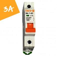 Автоматический выключатель ВА1-63  1 полюс  3А  4,5 кА (х-ка С)