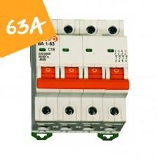 Автоматический выключатель ВА1-63  4 полюса  63А  4,5 кА (х-ка С)