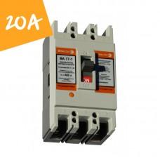 Автоматический выключатель ВА77-1-125 20А 3 полюса 8-12 In