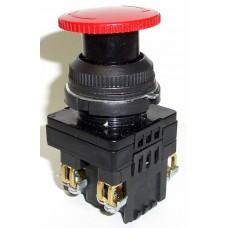 Выключатель кнопочный КЕ-141 исполнение 1...5 (грибок с фиксацией)