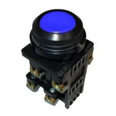 КЕ-012 синий выключатель кнопочный  (исполнение 1...5)