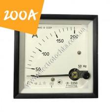 Щитовой амперметр Э350 200А класс 1,5