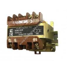 Трансформатор ОСМ1-0,063 с креплением на DIN-рейку