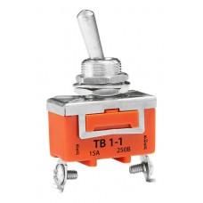 Тумблер ТВ-1-1 (5А, 220В) (2 положения, 2 контакта)