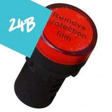 Арматура светосигнальная AD22 LED матрица 30mm красная 24В AC/DC