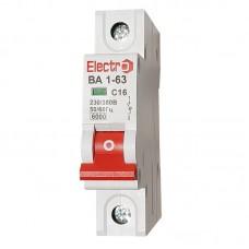 Автоматический выключатель ВА1-63  1 полюс  10А  6 кА (х-ка С)