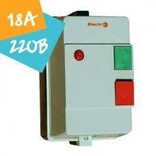 Контактор ПМЛк-1-18  18А 220В 7,5кВт АС3 (в захисному корпусі)