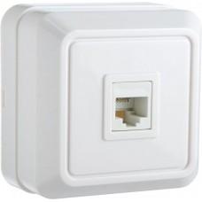 Розетка телефонна РЗtf-1-Ct-W (біла)