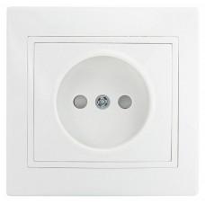 Розетка 2Р зі шторками PBшсб16-Fl-W (біла)