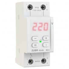 Реле защиты от перенапряжения ZUBR D2-63 red